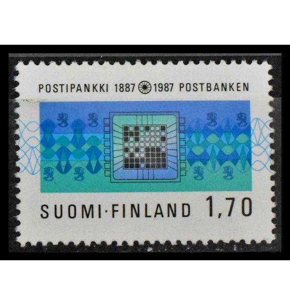 """Финляндия 1987 г. """"100 лет почтово-сберегательному банку Финляндии"""""""