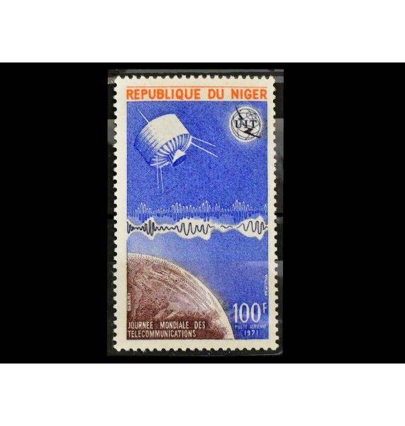 """Нигер 1971 г. """"3-й Международный день телекоммуникаций"""""""