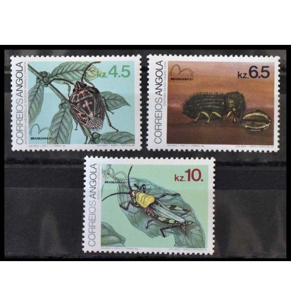 """Ангола 1983 г. """"Международная выставка марок BRASILIANA'83, Рио-де-Жанейро: Насекомые"""""""