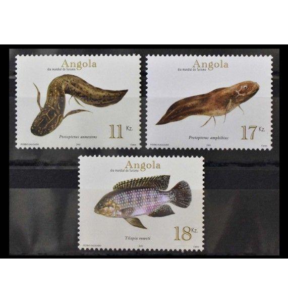 "Ангола 2001 г. ""Глубоководные рыбы"""