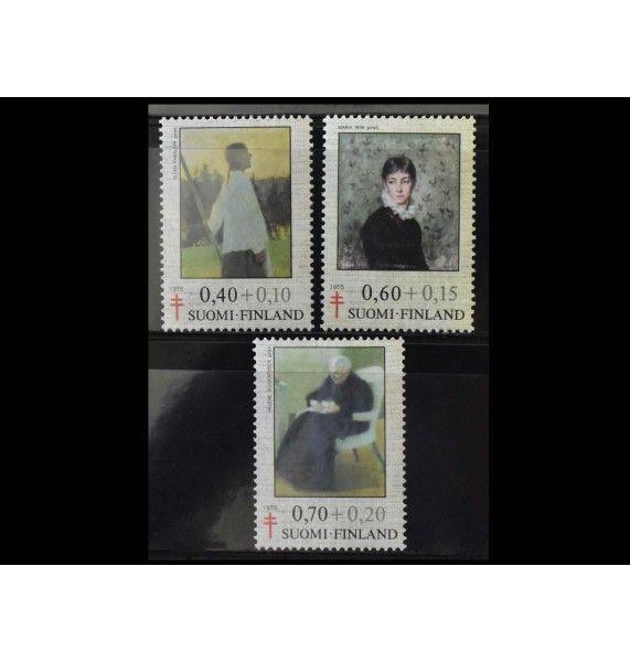 """Финляндия 1975 г. """"Борьба с туберкулезом: Картины"""""""
