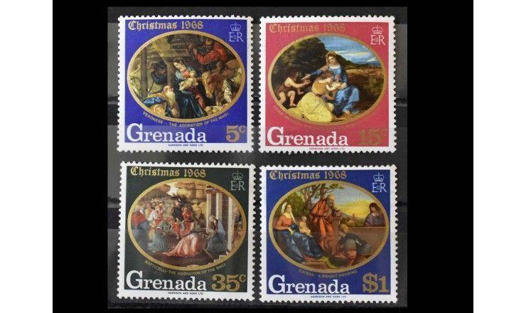 """Гренада 1968 г. """"Рождество: Картины итальянских художников"""""""