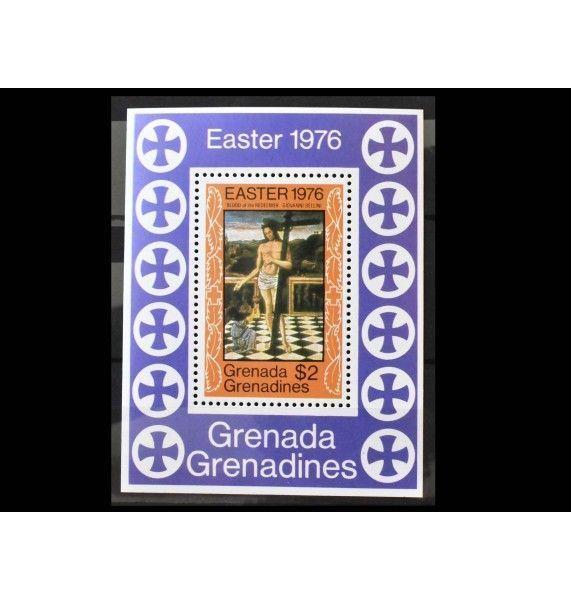 """Гренада и Гренадины 1976 г. """"Пасха: Картины"""""""