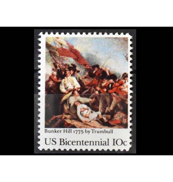 """США 1975 г. """"200 лет независимости США (1976): Битва при Банкер-Хилле"""""""