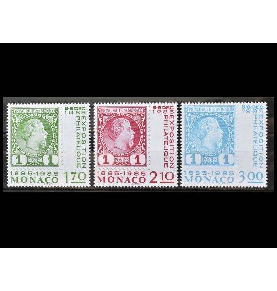 """Монако 1985 г. """"Международная выставка марок «100 лет почтовым маркам в Монако», Монте-Карло"""""""