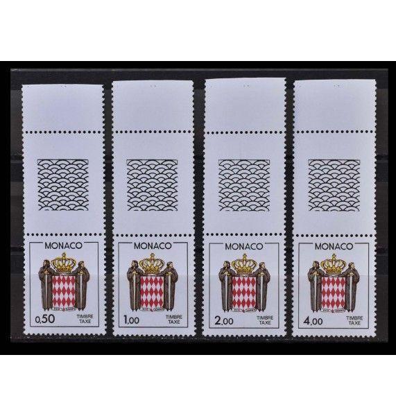 """Монако 1986 г. """"Доплатные марки. Национальный герб"""" (с купоном)"""
