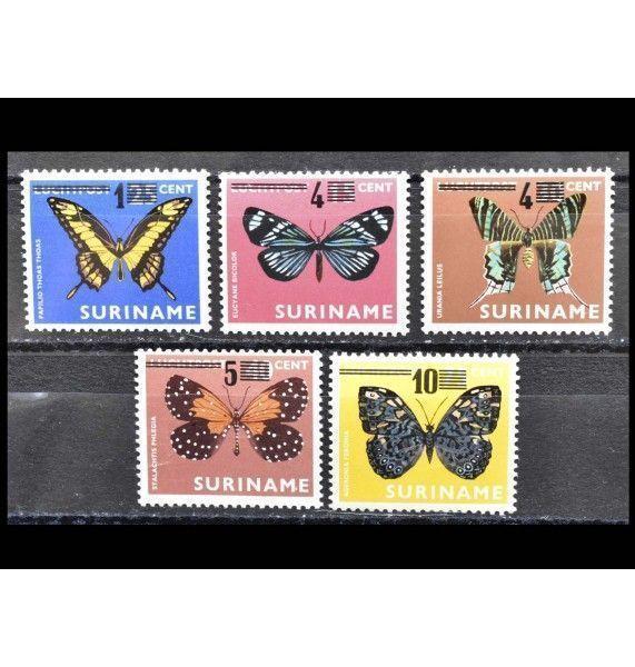 "Суринам 1977 г. ""Стандартные марки"" (надпечатка)"