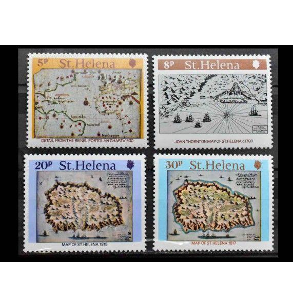 """Остров Святой Елены 1981 г. """"Карты"""""""