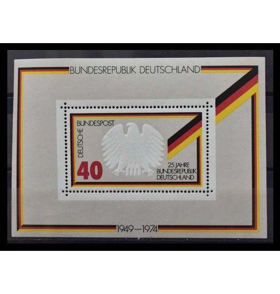 """ФРГ 1974 г. """"25 лет Федеративной Республике Германия"""""""