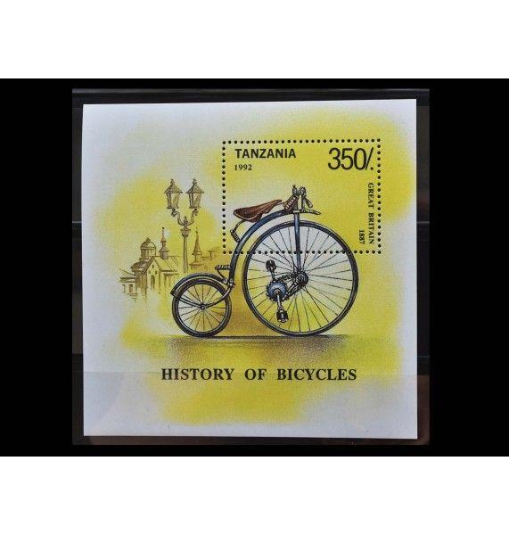 """Танзания 1992 г. """"История велосипеда"""""""