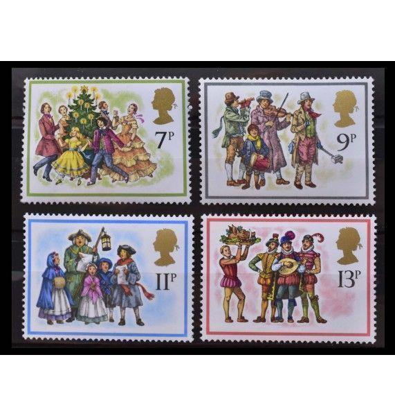 """Великобритания 1978 г. """"Рождество: Рождественское пение"""""""