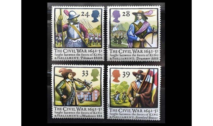 """Великобритания 1992 г. """"Начало гражданской войны (1642-1651) в Англии 350 лет назад"""""""