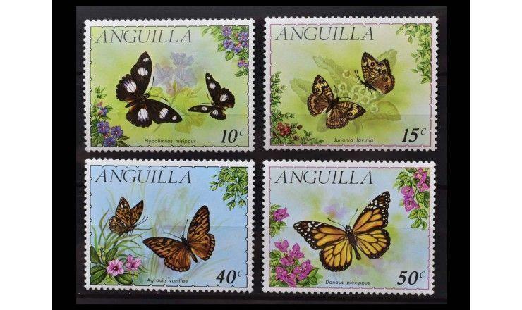 """Ангилья 1971 г. """"Местные бабочки"""""""