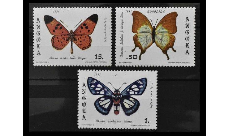 "Ангола 1982 г. ""Бабочки"""