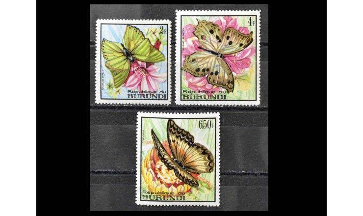"""Бурунди 1968 г. """"Бабочки"""""""