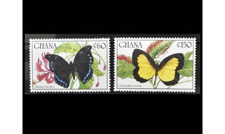 """Гана 1990 г. """"Бабочки"""""""