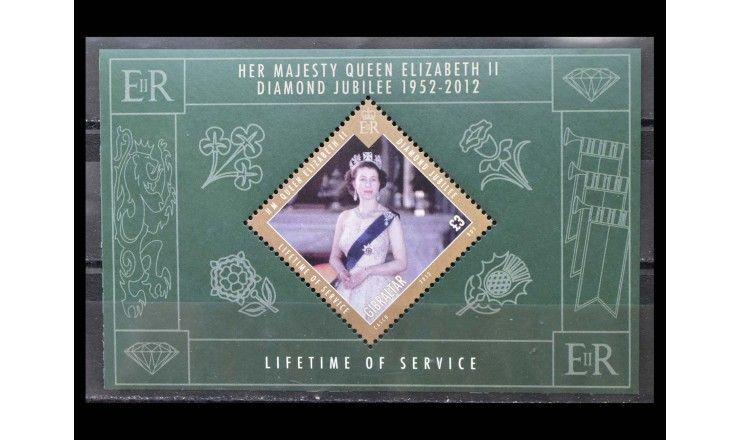 """Гибралтар 2012 г. """"60 лет восшествия на престол королевы Елизаветы II"""""""