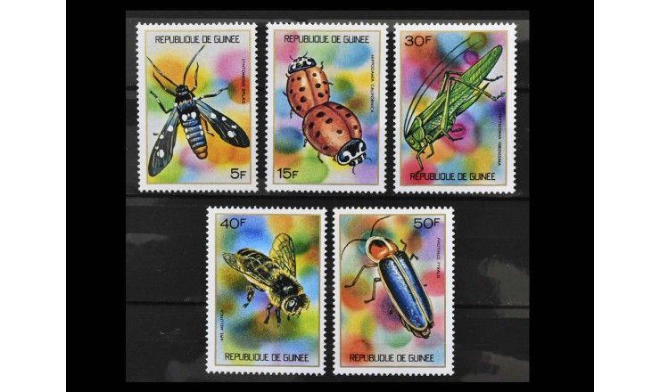 """Гвинея 1973 г. """"Полезные насекомые"""""""