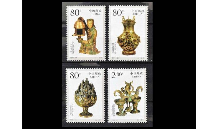"""Китай 2000 г. """"Находки из могилы принца Цзина Чжуншаня"""""""