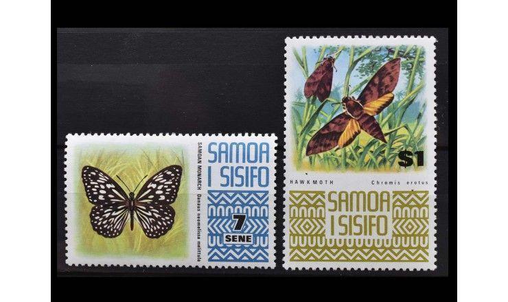 """Самоа и Сисифо 1972 г. """"Стандартные марки: Животные"""""""