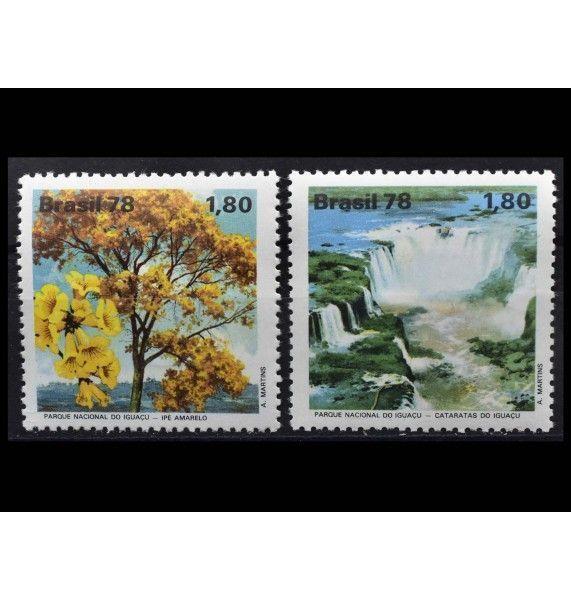 """Бразилия 1978 г. """"Охрана природы: Игуасу - Национальный парк, Парана"""""""