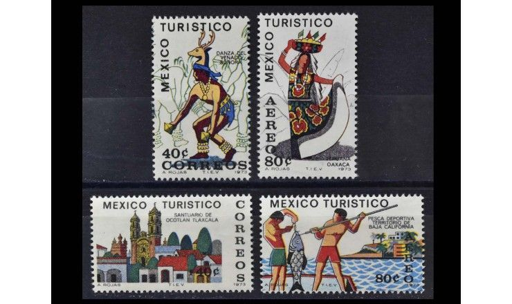 "Мексика 1973 г. ""Туризм в Мексике"""
