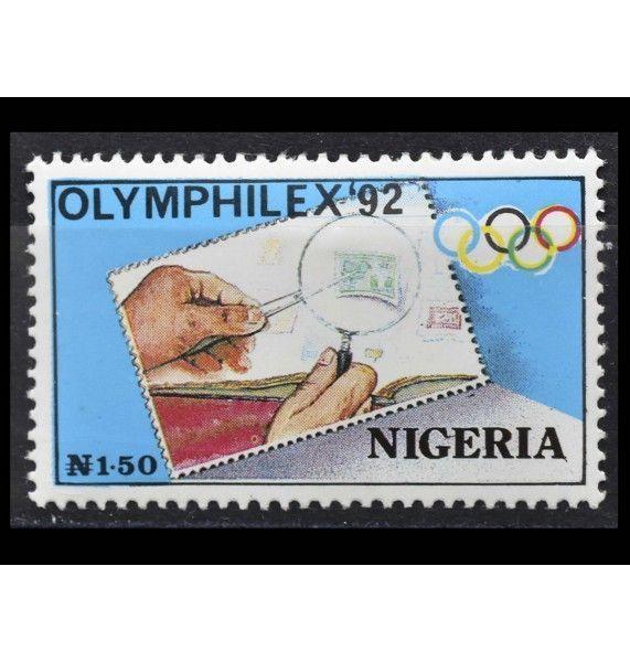 """Нигерия 1992 г. """"Международная выставка марок OLYMPHILEX`92, Барселона"""""""