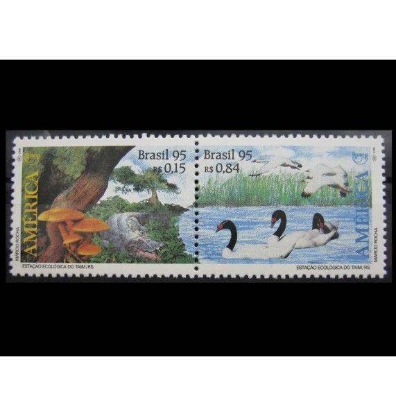 "Бразилия 1995 г. ""Америка: Охрана природы"""