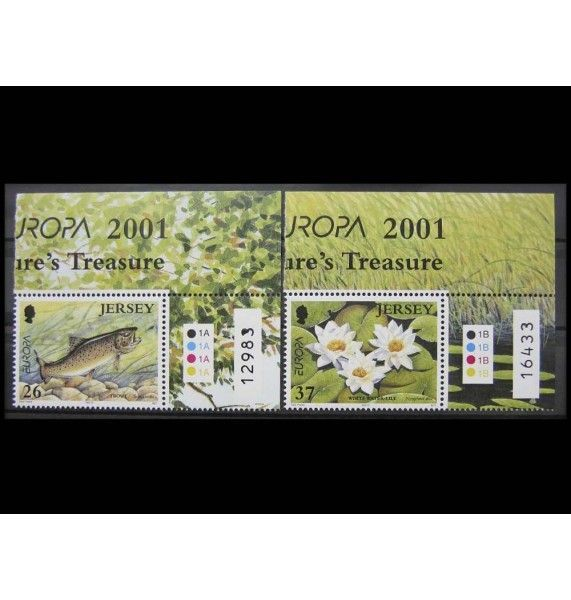 """Джерси 2001 г. """"Европа: Водная среда обитания"""""""