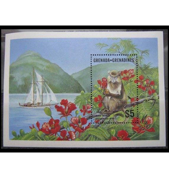 """Гренада и Гренадины 1986 г. """"Животные"""""""