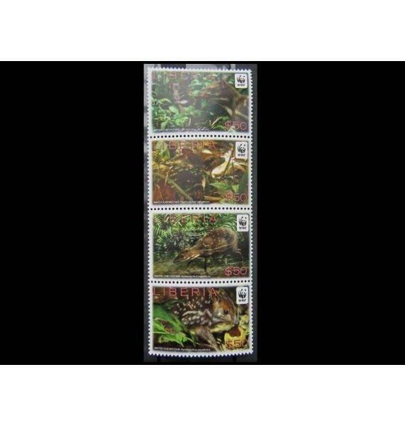 """Либерия 2011 г. """"Охрана природы: водяной оленёк"""""""