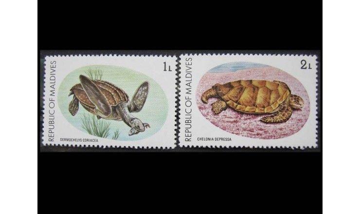 """Мальдивы 1980 г. """"Охрана природы: Морские черепахи"""""""