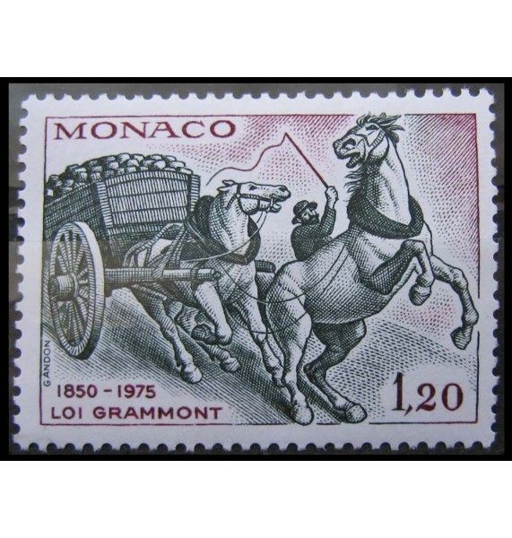 "Монако 1975 г. ""Закон Граммона о защите животных"""