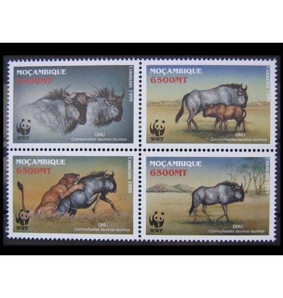 "Мозамбик 2000 г. ""Охрана природы: Голубой гну"""