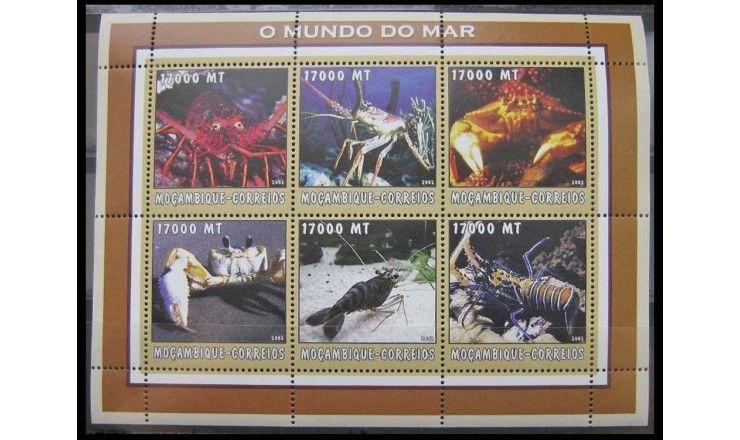 """Мозамбик 2002 г. """"Морская фауна"""""""