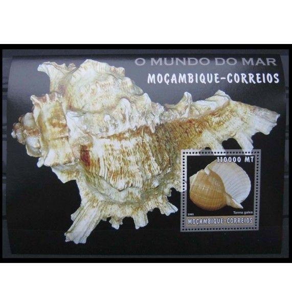 "Мозамбик 2002 г. ""Морской мир: ракушки"""
