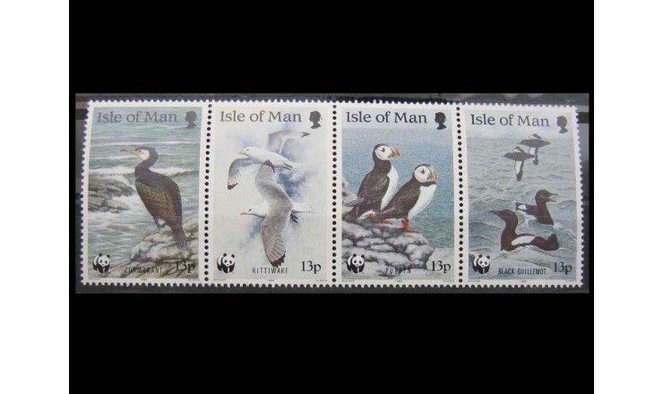 """Остров Мэн 1989 г. """"Всемирная охрана природы: Морские птицы"""""""