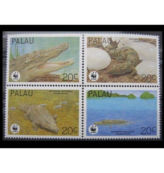 """Палау 1994 г. """"Гребнистый крокодил"""""""