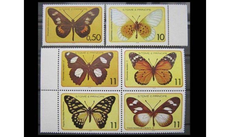 """Сан-Томе и Принсипи 1979 г. """"Бабочки"""""""