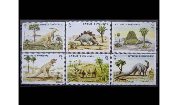 "Сан-Томе и Принсипи 1982 г. ""Динозавры"""