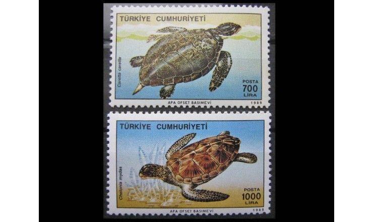 """Турция 1989 г. """"Морские черепахи"""""""