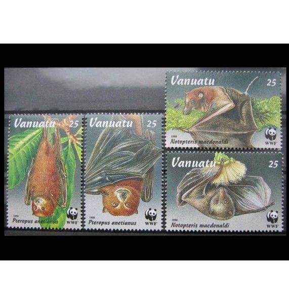 "Вануату 1996 г. ""Охрана природы: Летучие лисицы"""