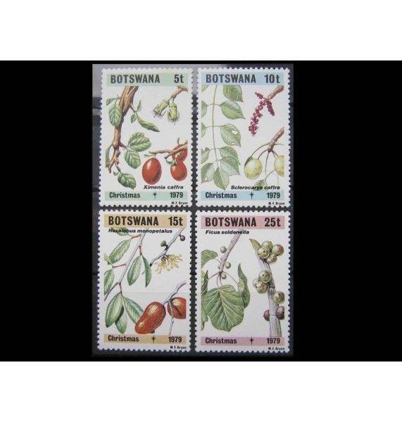 """Ботсвана 1979 г. """"Рождество: Листья и фрукты"""""""