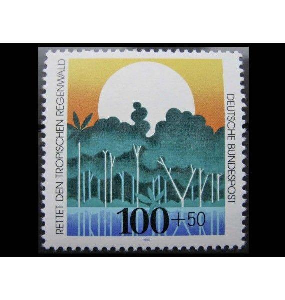 """ФРГ 1992 г. """"Охрана тропических лесов"""""""