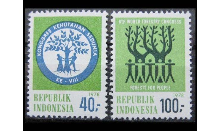 """Индонезия 1978 г. """"Всемирный конгресс лесного хозяйства"""""""
