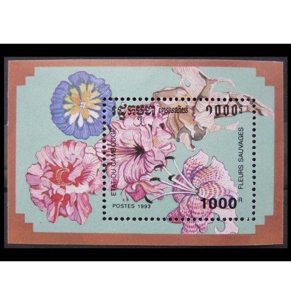 """Камбоджа 1993 г. """"Дикие цветы"""""""