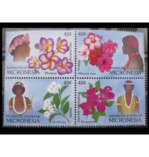"""Микронезия 1989 г. """"Цветы и цветочные украшения"""""""