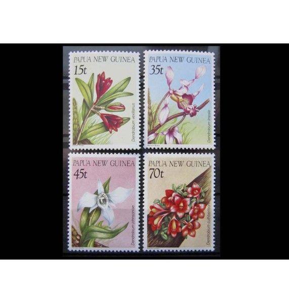 """Папуа-Новая Гвинея 1986 г. """"Орхидеи"""""""
