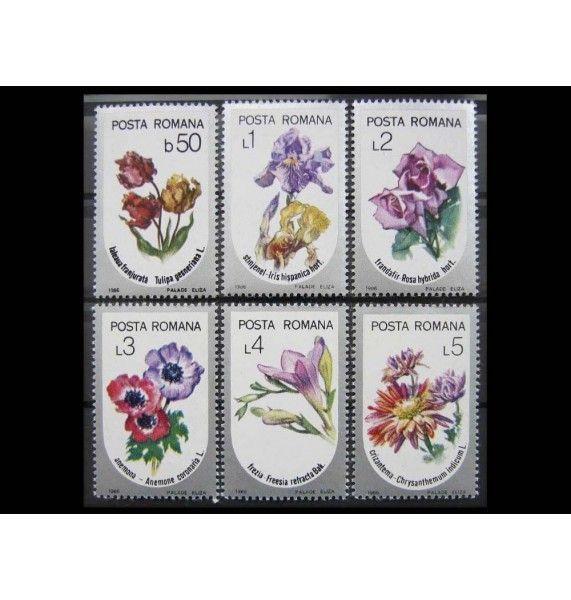 """Румыния 1986 г. """"Cадовые цветы"""""""