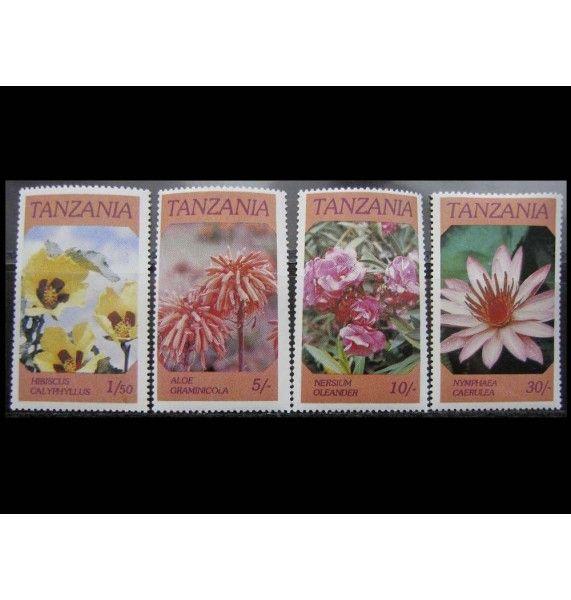 """Танзания 1986 г. """"Цветы"""""""